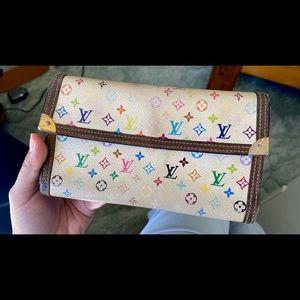 Louis Vuitton wallet multicolour monogram pattern